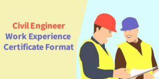 Civil Engineer Work Experience Certificate Format