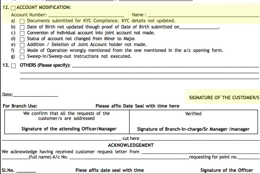 Canara Bank KYC Form for Individual