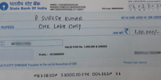How to write one lakh rupees only on cheque image