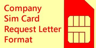 Company Sim Card Request Letter Format