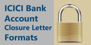 ICICI bank account closure letter formats