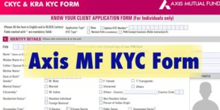 Axis MF KYC Form for non individuals