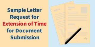 Sample Letter Request for Extension of Time for Document Submission