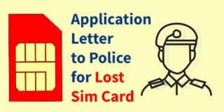 Application Letter for Lost SIM Card to Police
