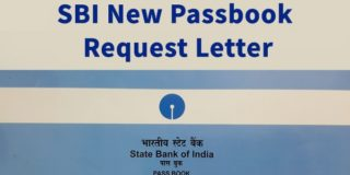 SBI New Passbook Request Letter in English