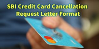 SBI Credit Card Cancellation Request Letter Format
