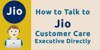 How to talk to jio customer care executive directly