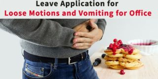 Leave Application for Loose Motions and Vomiting for Office