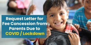 Request Letter for Fee Concession from Parents Due to COVID / Lockdown