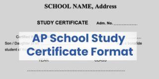 AP school study certificate format pdf