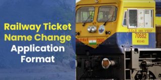 Application Format for Change in Name in Railway Ticket