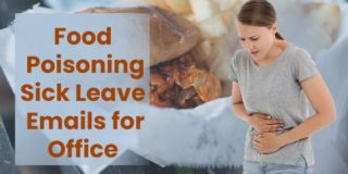 Food Poisoning Sick Leave Emails for Office