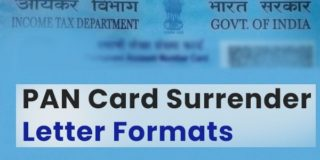 PAN card surrender letter Word format