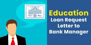 Request Letter to Bank Manager for Education Loan (for Higher Studies)
