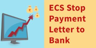 ECS Stop Payment Request Letters to Bank Formats