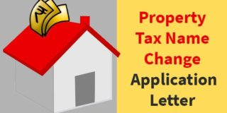 Property Tax Name Change Application Letter