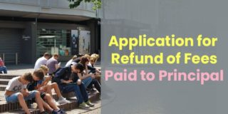 Application for Refund of Fees