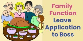 Family function leave application to boss