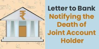 Letter to Bank Notifying the Death of Joint Account Holder