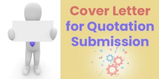 Sample Cover Letter for Quotation Submission