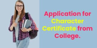 Application for Character Certificate from College