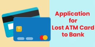 Application for lost ATM card and to issue new ATM card