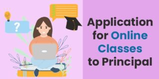 Application for online classes to principal