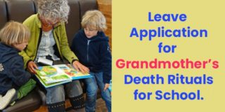 Leave Application for Grandmother Death Rituals for School